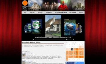 Brixham Theatre Website Screenshot