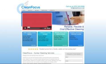 Clean Focus Website Screenshot