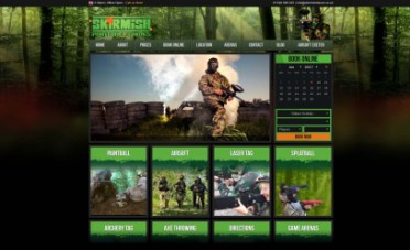 Devon Skirmish Website Screen shot