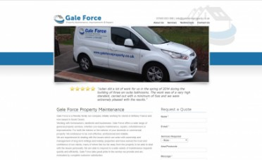 Gale Force Website Screenshot