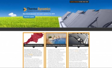 Thermo Dynamics Website Screenshot