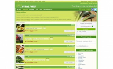 Vital Veg Website Screenshot