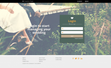 Couples Page Website Design