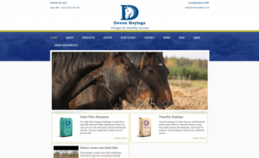 Devon Haylage Website Design