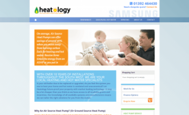 Heatology Website Design