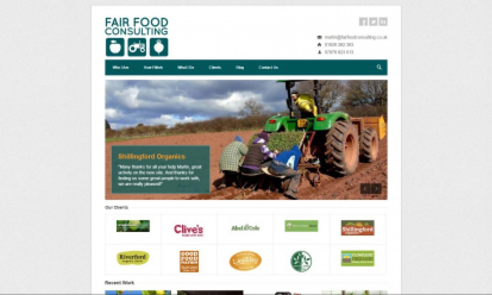 Fair Food Consulting Website Screenshot