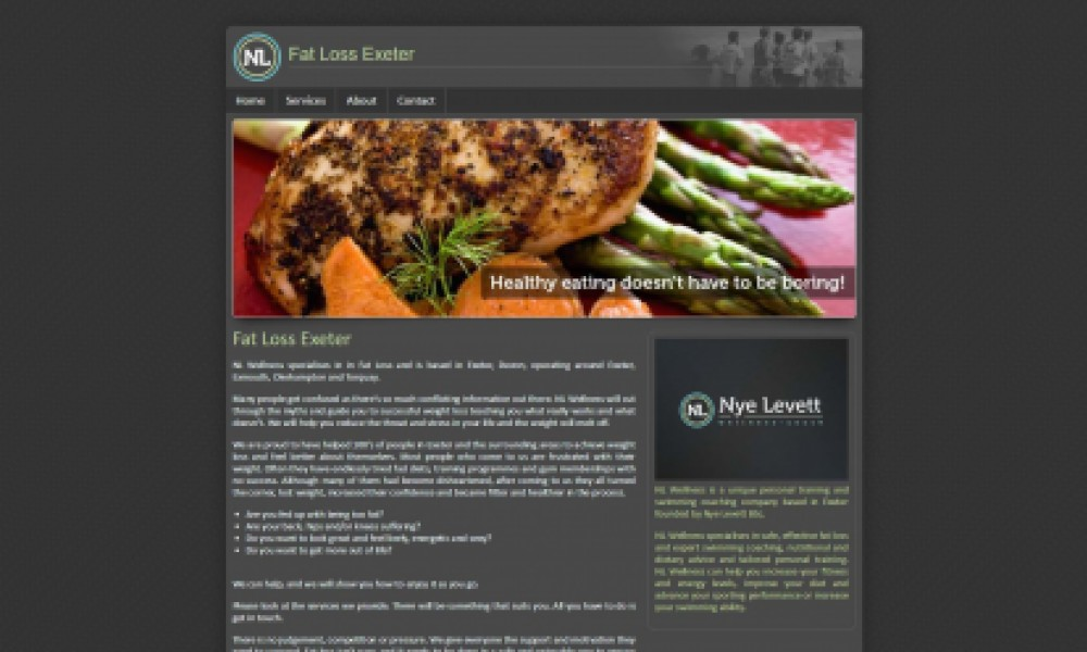 Fat Loss Exeter Website Screenshot