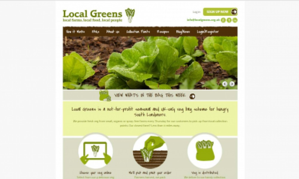 Local Greens Website Screenshot