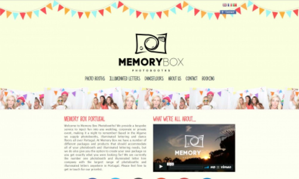 Memory Box Website Screenshot
