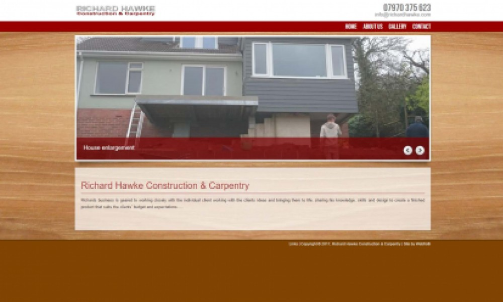 Richard Hawke Website Screenshot