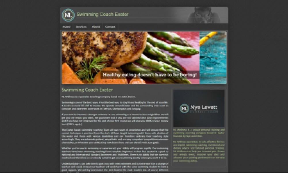 Swimming Coach Website Screenshot
