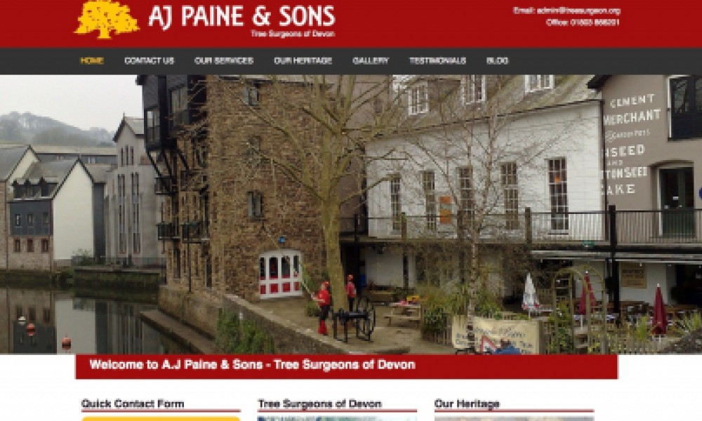 AJ Paine & Sons Tree Surgeons Website
