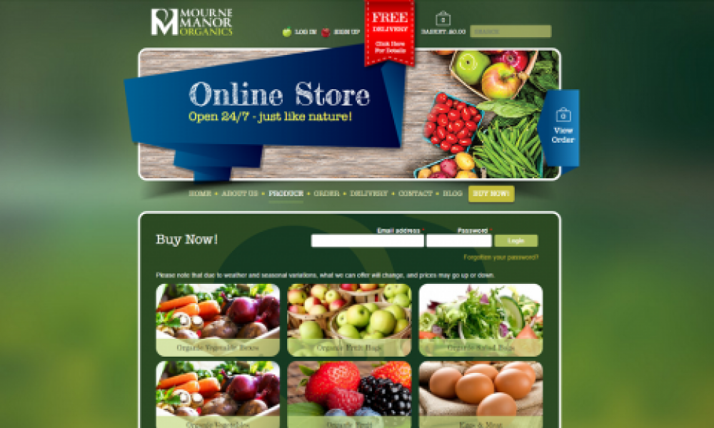 Veg Box Website Design