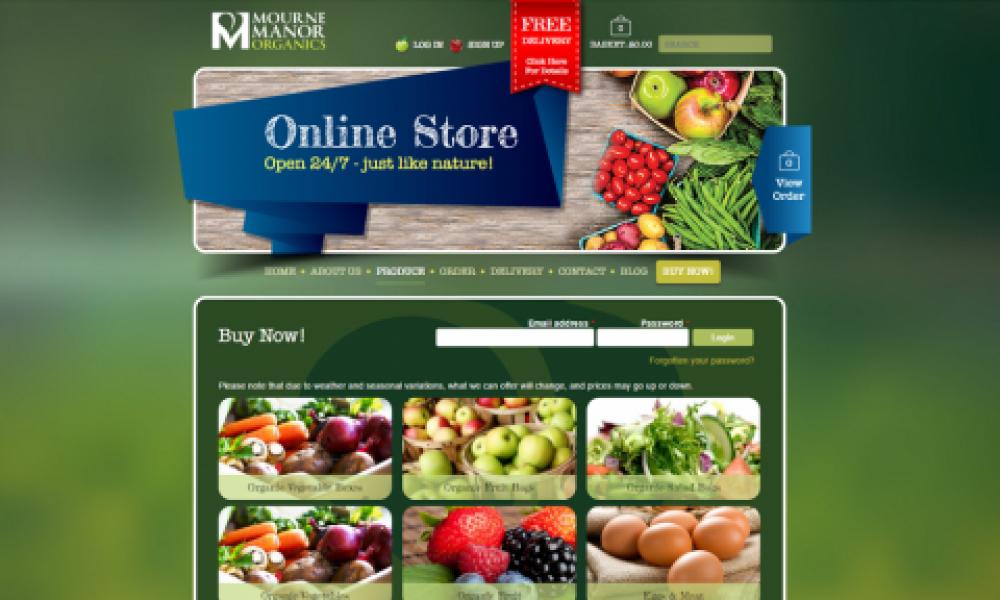 Veg Box Website Design