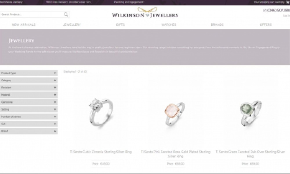 Wilkinson Jewellers e-Commerce