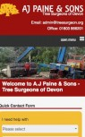 AJ Paine & Sons Tree Surgeons Mobile Website